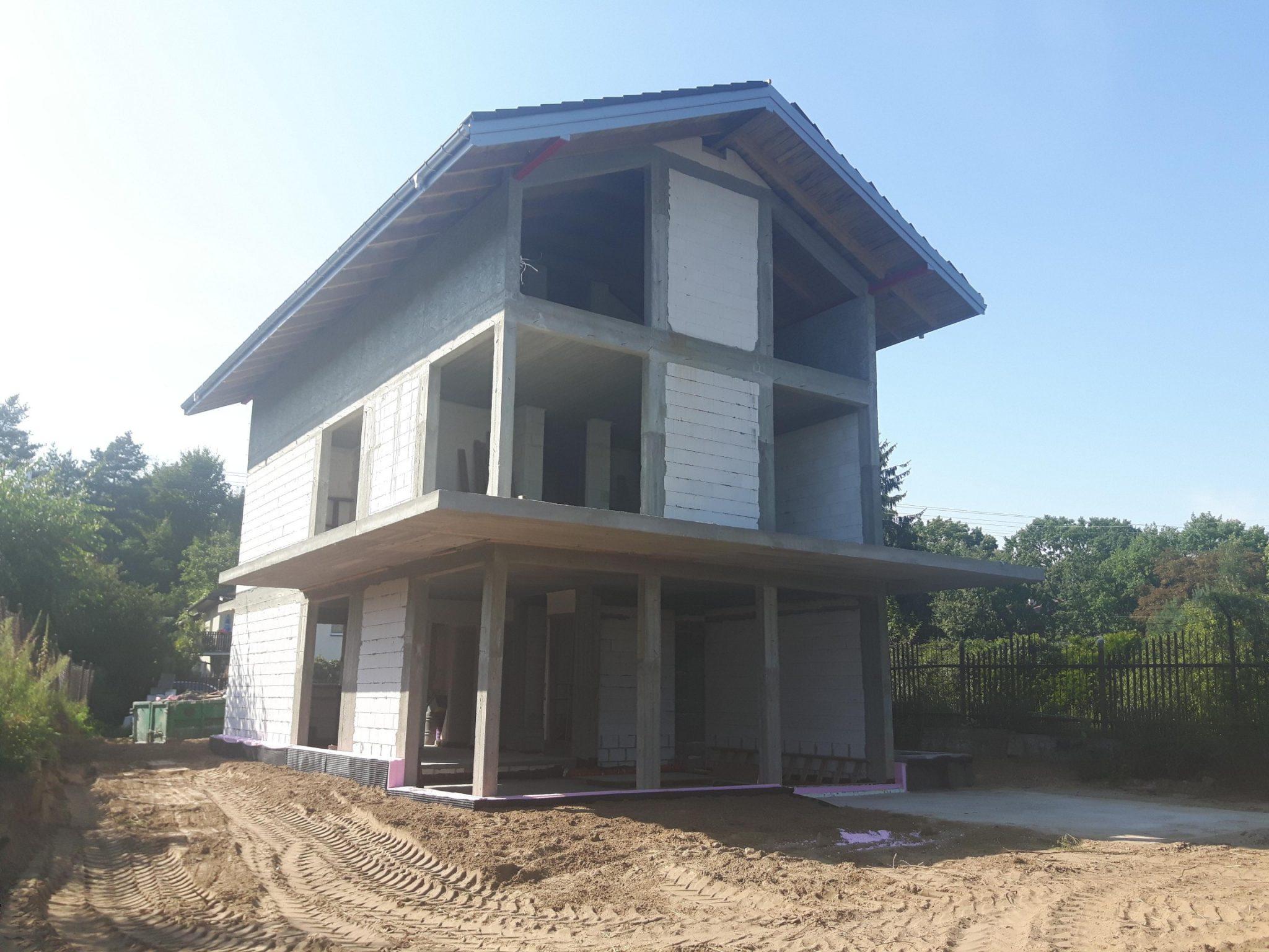 stan surowy domu jednorodzinnego